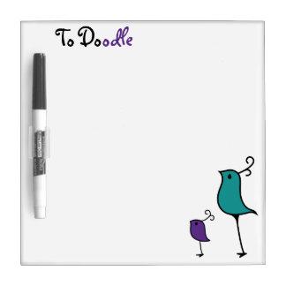 Tablero del Doodle, trullo/púrpura 2 Pizarras Blancas
