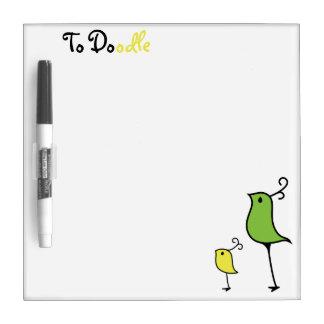 Tablero del Doodle, verde/amarillo 2 Pizarra