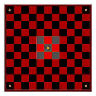 Tablero del juego de Hnefatafl (inspectores/ajedre Póster