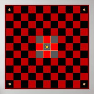 Tablero del juego de Hnefatafl Póster