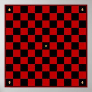 Tablero del juego de Hnefatafl (Table de Viking de Póster