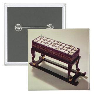 Tablero del juego, de la tumba de Tutankhamun Pin Cuadrado