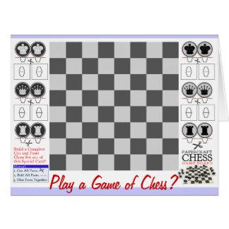 Tablero del juego de Papercraft del juego de ajedr Tarjetón