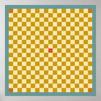 Tablero del juego de Tafl/de Alea Evangelii Póster