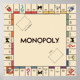 Tablero del juego del monopolio del vintage posters
