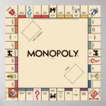 Tablero del juego del monopolio del vintage póster