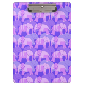 Tablero del modelo del elefante - púrpura