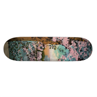 Tablero del patín de las flores de cerezo