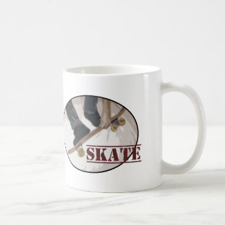 Tablero del patín redondo taza de café