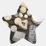 Tablero del queso colcomanias forma de estrellas