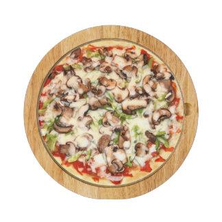 Tablero del queso de la pizza de la seta - Ventana