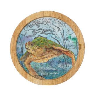 Tablero del queso de la tortuga de mar