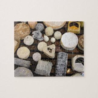 Tablero del queso puzzle con fotos