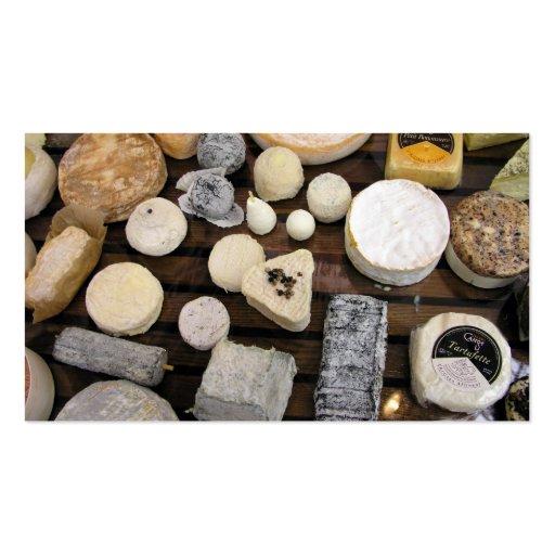 Tablero del queso tarjetas de visita