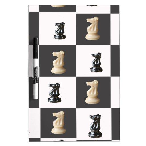 Tablero del rey ajedrez pizarras blancas de calidad