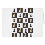 Tablero del rey ajedrez tarjeta