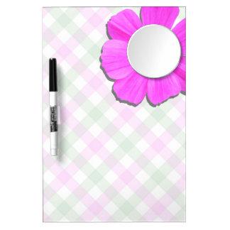 Tablero del Seco-Borrado - cosmos y enrejado rosad Pizarras Blancas