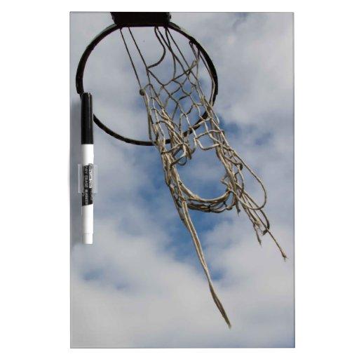 Tablero del seco-borrado del aro de baloncesto tableros blancos