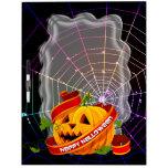 Tablero del Seco-Borrado del feliz Halloween 6 Pizarra Blanca