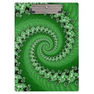 Tablero espiral doble verde del fractal