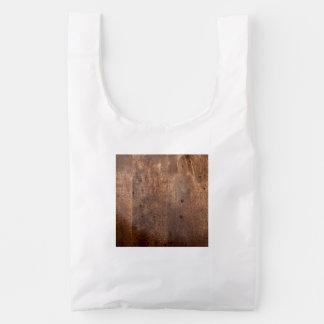 Tablero gastado del pino bolsa reutilizable