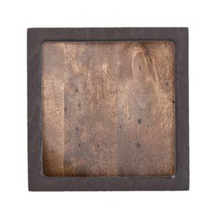 Tablero gastado del pino caja de joyas de calidad