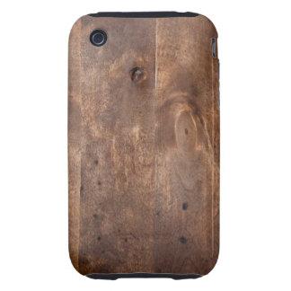 Tablero gastado del pino iPhone 3 tough cobertura