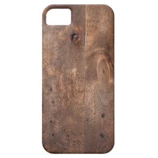 Tablero gastado del pino funda para iPhone 5 barely there