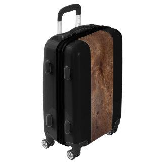 Tablero gastado del pino maletas