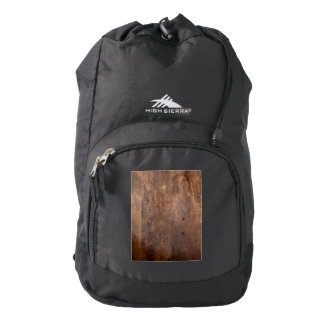 Tablero gastado del pino mochila