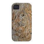 Tablero Gnarly de madera nudoso de la cabina del a Vibe iPhone 4 Fundas