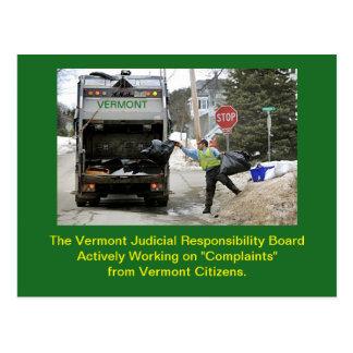Tablero judicial de la conducta de Vermont: Postal