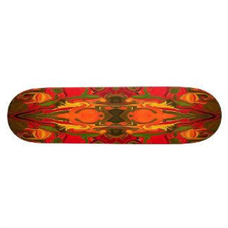 tablero modelado rojo del firey patines