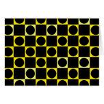 Tablero negro y amarillo felicitación