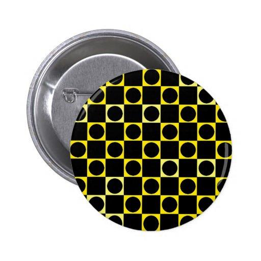 Tablero negro y amarillo pin