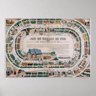 Tablero para un juego ferroviario, 1850 póster