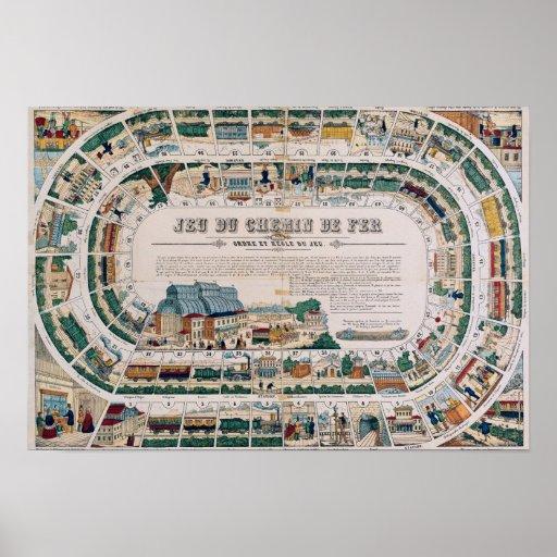 Tablero para un juego ferroviario, 1850 poster