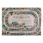 Tablero para un juego ferroviario, 1850 felicitacion