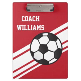 Tablero personalizado coche rojo del fútbol
