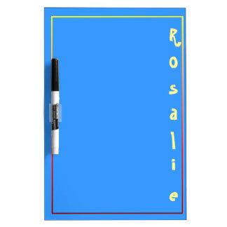 Tablero personalizado lindo del borrado del azul r pizarra