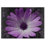 Tablero púrpura del corte del vidrio de la flor de tablas para cortar