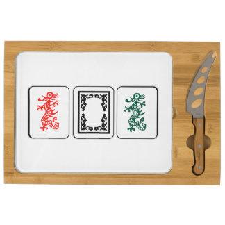 Tablero rectangular del queso del Mah Jong