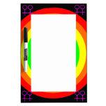 Tablero redondo de la nota del arco iris de las le pizarras