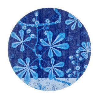 Tablero redondo del corte del vidrio de la flor tablas de cortar