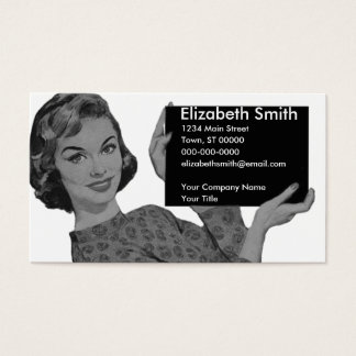 Tablero retro tarjetas de visita