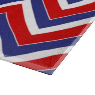 TABLERO rojo, blanco, azul del CORTE DEL VIDRIO de Tabla De Cortar