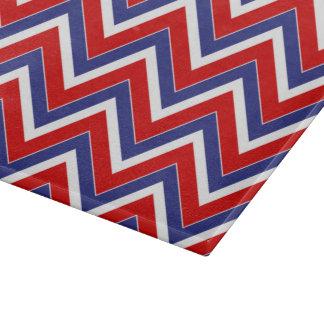TABLERO rojo, blanco, azul del CORTE DEL VIDRIO de Tablas De Cortar