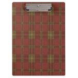 Tablero rojo de la tela escocesa