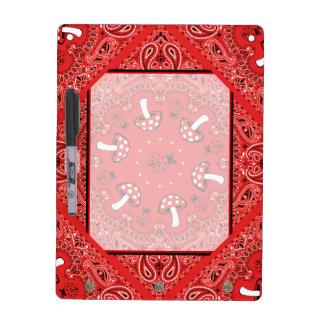 tablero rojo del borrador del pañuelo pizarras blancas