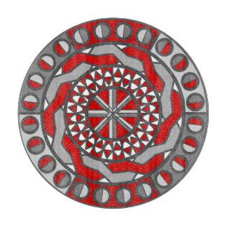 Tablero rojo del corte del vidrio de la maquinaria tablas de cortar